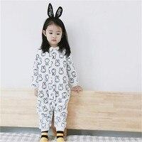 Baby Boys Girls Panda Children pajamas Flannel Stitch Animal Pajamas Kids Pajama sets Onesies Children clothes