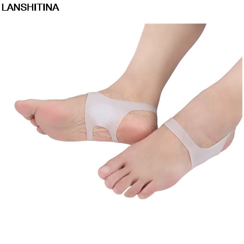 LANSHITINA No Slip Men Women Shoe Insoles Pads Accessoires Silicone Insole Orthopedic Insoles O-type Leg Foot Valgus Correction o x leg correction half insoles inner outer eight foot orthopedic correction silicone heel pad for men women 5 pairs lot vc3550