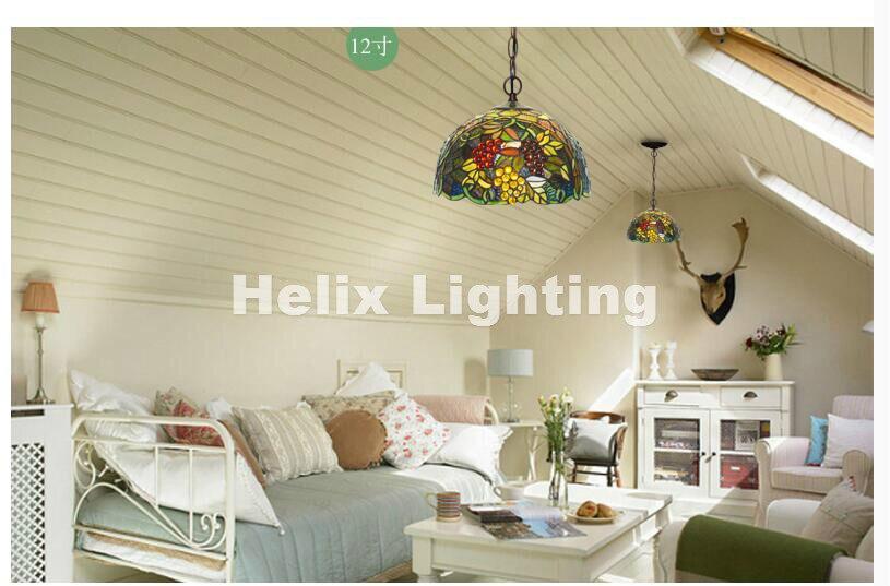 2017 Tiffany Grape Bohemian pendant lights Vintage Industrial Lighting Modern Hanging Lamp Lighting Vintage Pendant Lighting