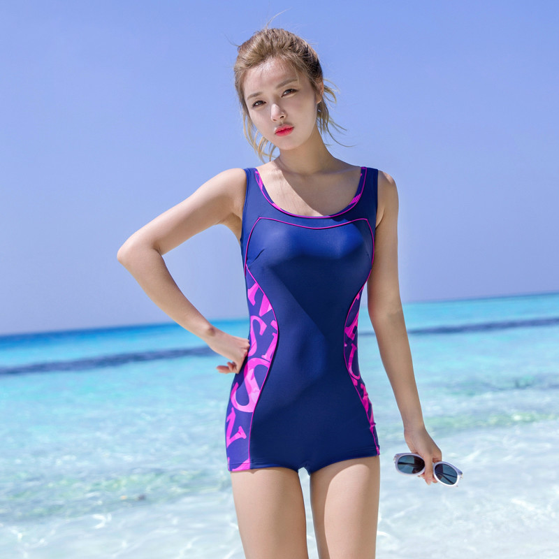 NIUMO NEW Woman Swimwear Profession Sports Flat Angle One-piece Swimsuit Large Size Training Swimsuit Beach Hot Springs