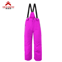 WILD SNOW Children's outdoor professional thermal ski pants camping hiking pants ski pants