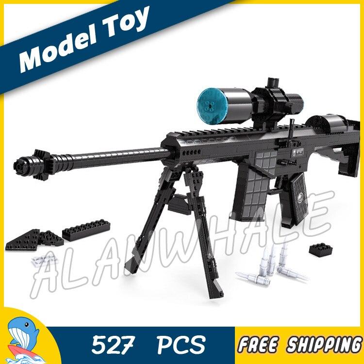 527 pièces Modèle M107 Sniping lunette de visé pistolet jouet D'armes Pour Agression Militaire Soldats Kit de Construction blocs jouets Compitable avec Lego