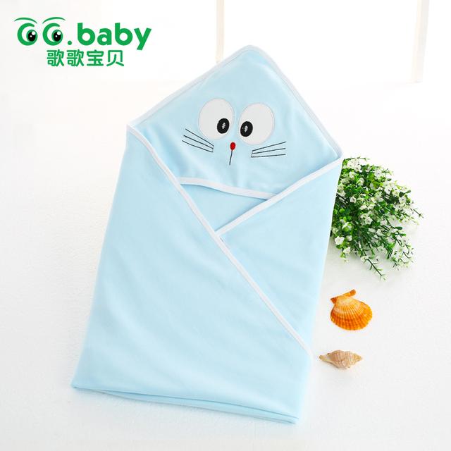 Hot Bebê Recém-nascido Conjunto Dom Conjunto de Roupas Menino Terno 0-3 Meses Algodão Recebendo Cobertores de Moda Azul Cores do Café