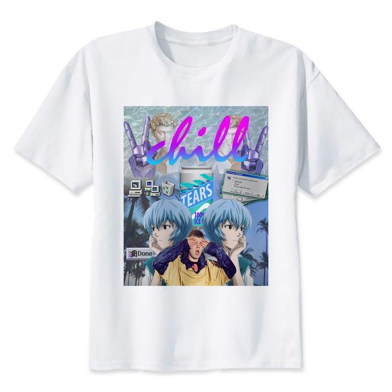Vaporwave stampa casual tshirt mens o-collo t shirts fashion tops uomo T-Shirt manica corta da uomo MR1250
