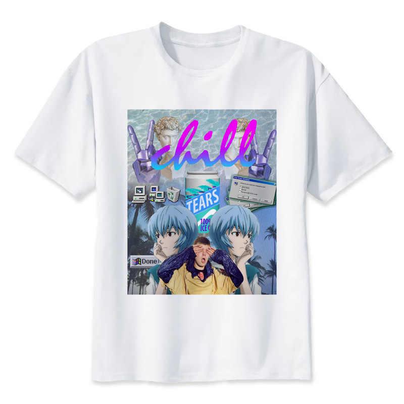 3f94b0cc4de45 Vaporwave печати случайные футболки мужские футболки с круглым вырезом  Модные мужские топы Мужчины футболка с коротким