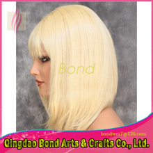 2016 Best Quality Brazilian Virgin Hair Full Lace Wig Blonde 613 Color Silk Straight Full Lace Human Hair Wigs