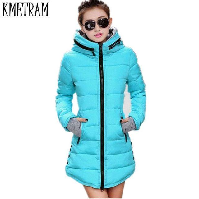 Women's Winter Jacket 2017 New Medium long Down Cotton Female ...