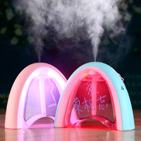 NEW Message Board LED Light USB Ultrasonic Humidifier DC 5V 400ML Creative Gift Air Purifier Mist