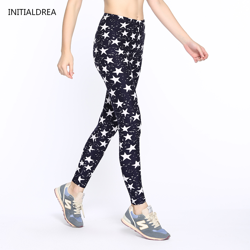 Causal Leggings 2018 Women's Fall Fashion Floral Print Leggins - Damkläder