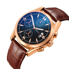 Luxury Quartz Analog Men Business Watches Sports Brand Chronograph Wristwatch Leather Strap Male Clock Relogio Masculino