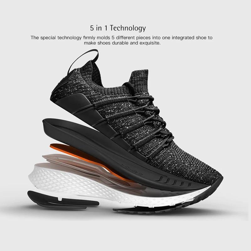 Chaussures d'origine Xiaomi Mijia 2 baskets Sport Uni-moulage Techinique système de verrouillage en arête de poisson empeigne à tricoter élastique pour hommes et femmes - 3