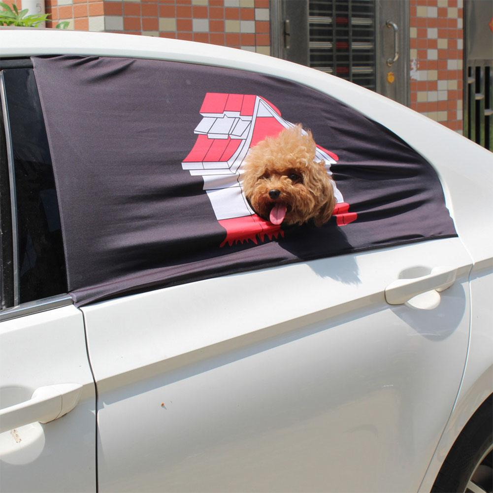 LanLan Pet Dog Safety Car impreso valla ventana cortina Visor ventana cubierta de sombra