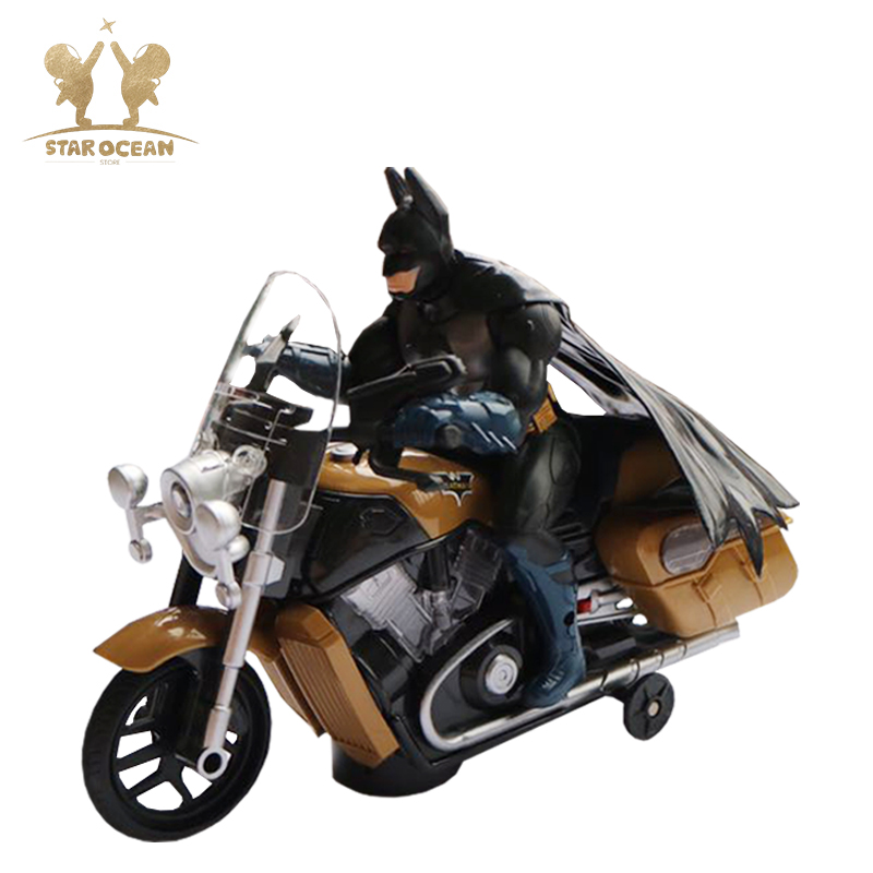 Batman Super Hero Cool Black Man Movie Model Drive Motorcycle Electric Motorbike Toy Running for 3 Years Above Boys