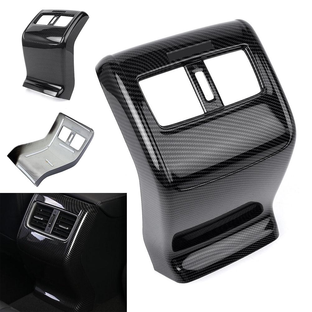 Embellecedor de salida de ventilación de aire de la caja del apoyabrazos trasero del coche para Honda Accord 2018 2019 estilo de Color de fibra de carbono