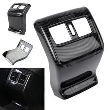 Сзади подлокотник коробка вентиляционное отверстие розетки Накладка для Honda Accord 2018 углеродного волокна Цвет Стиль