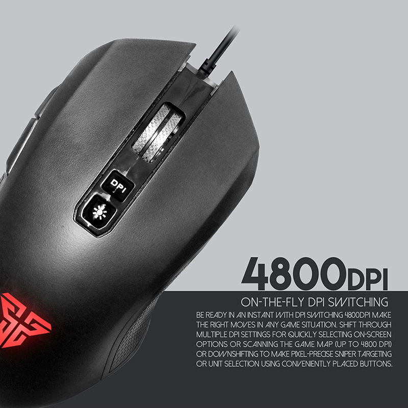 PC computer ergonomic electronic gaming mouse with backlight