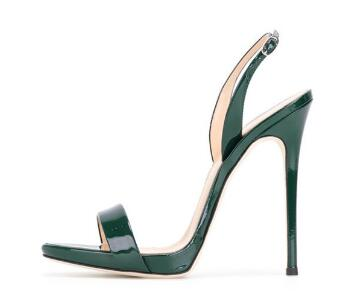 Moraima Snc Newest Green Patent Leather Slingback Heels Stiletto Office Sandals Party Classics Super High sandalsMoraima Snc Newest Green Patent Leather Slingback Heels Stiletto Office Sandals Party Classics Super High sandals