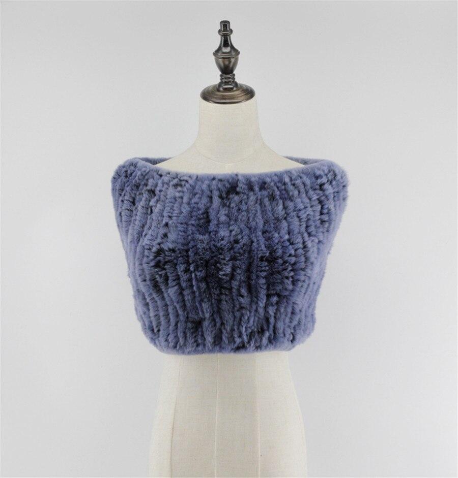 Zbrusu nový módní originální Real Rex králík kožešina ručně pletená šála šátek mys večerní party