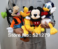 Free shipping 4pcs Mickey mouse,Donald duck,GOOFy dog,Pluto dog plush soft toys,best gift for kids&son
