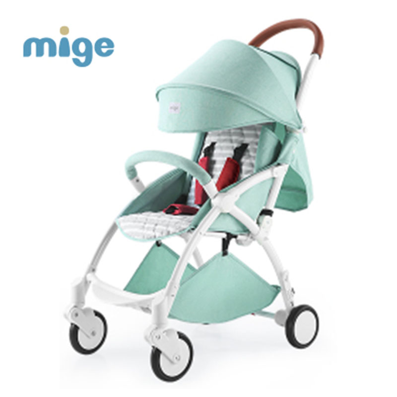 mige baby stroller lightweight folding umbrella stroller car can sit or lie portable baby child trolley summer