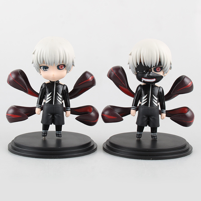Anime Tokyo Ghoul Kaneki Ken 1/10 scale painted PVC Figure Collectible Model Toy 2pcs/set 11cm KT1887 new original wfb1224he broo 12038 12cm 24v 0 50a 3 wire inverter fan