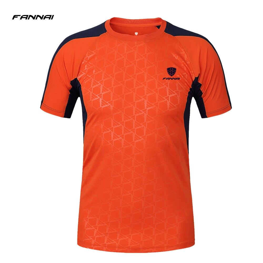 FANNAI 2017 New Design Running T Shirt Men Short Sleeve Quick Dry Compression T-shirt Mens Soccer Jerseys Sport Clothing Tops