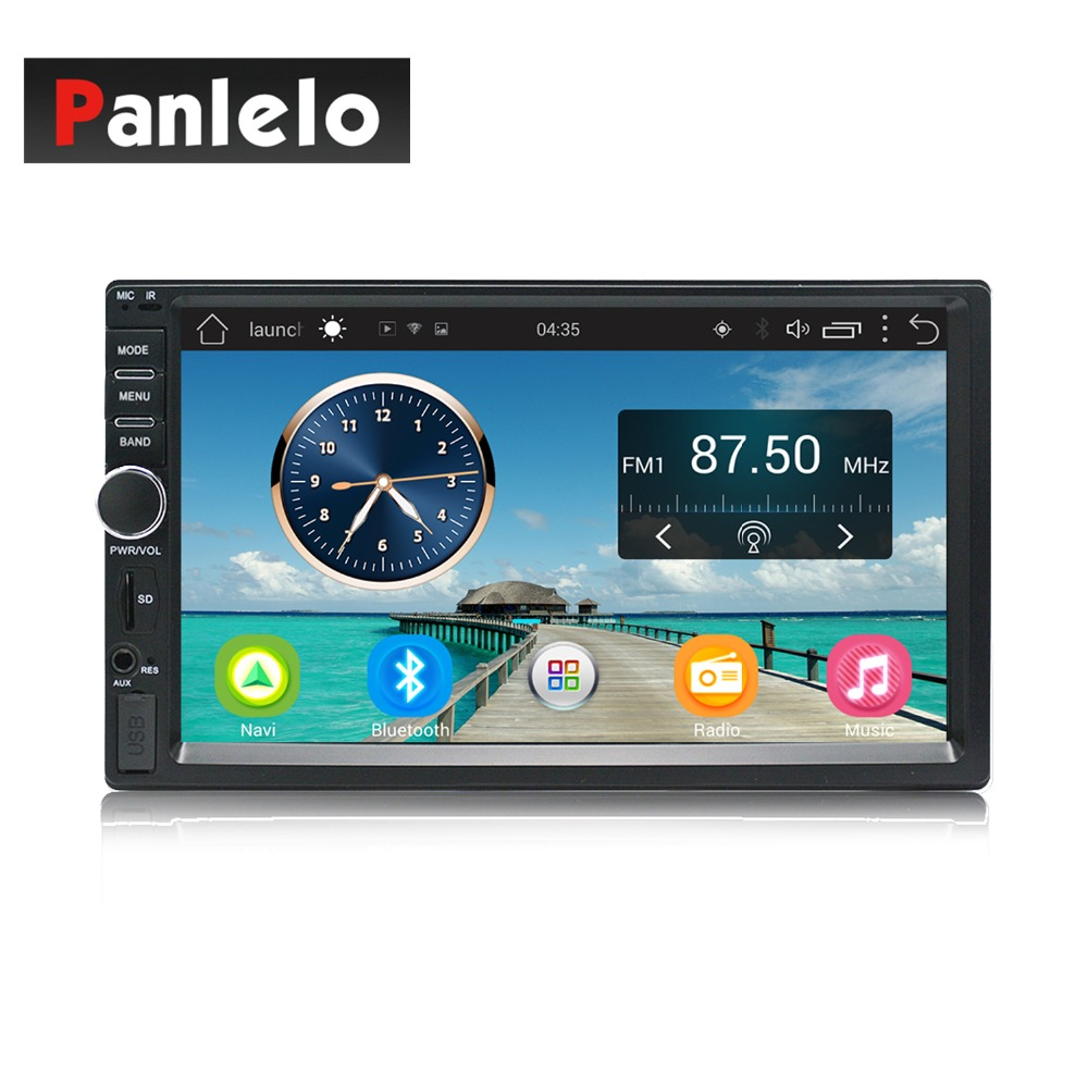 2 Din Car Multimedia Player de Música Estéreo de Áudio e Vídeo Do Carro Android MP3 MP4 Wi-Fi Bluetooth 7 polegada Tela de Toque SD USB Slot 1024*60