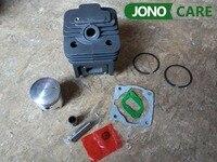Cylinder Bore 44MM 52CC BC520 CG520 Brush Cutter Cylinder Piston Kit With Manifold Gasket Cylinder Gasket
