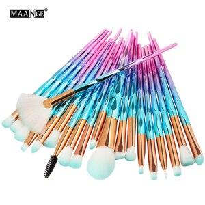 Image 3 - MAANGE 20Pcs Makeup Brushes Set Diomand Powder Eye Shadow Foundation Concealer Blush Lip Make Up Brushes brochas para maquillaje