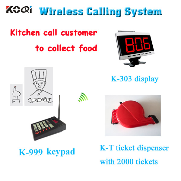 wireless restaurant waiter sevice call queuing management paging system with ticket dispenser electronic queue management system|restaurant system|waiter calling system|waiter paging system - title=