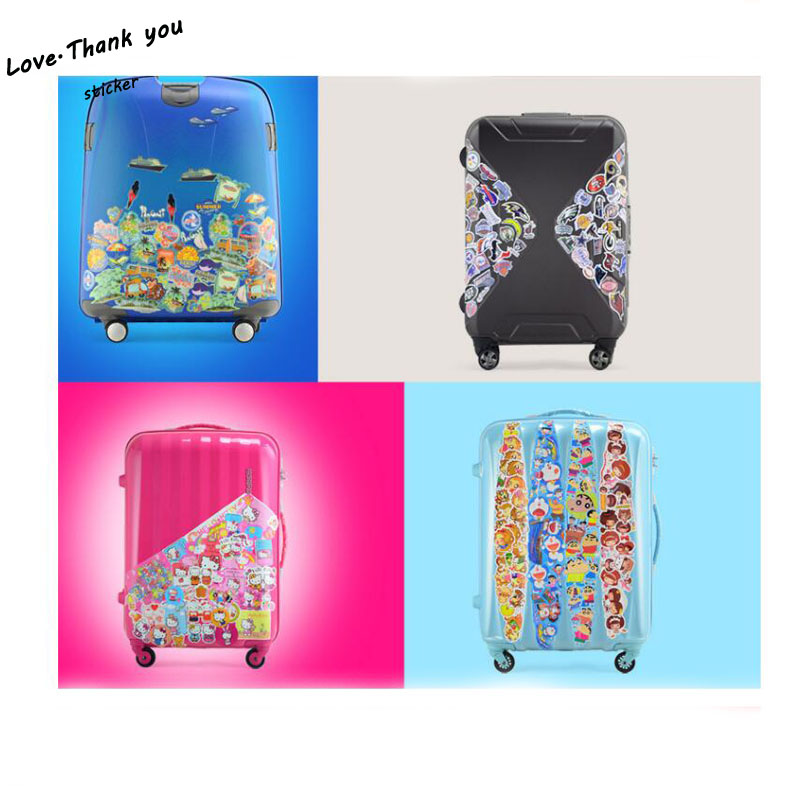 500 Pieces Do Not Repeat PVC Waterproof Fun Do Not Repeat Laptop Sticker The Luggage Stickers Handbag Decoration Stickers in Stickers from Toys Hobbies
