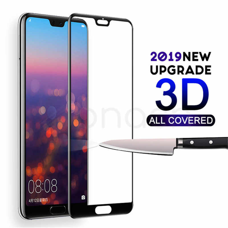 3D Full Cover Tempered Glass For Huawei P20 Pro P10 P9 Lite Plus Screen Protector For Huawei P Smart 2019 Protective Glass Film