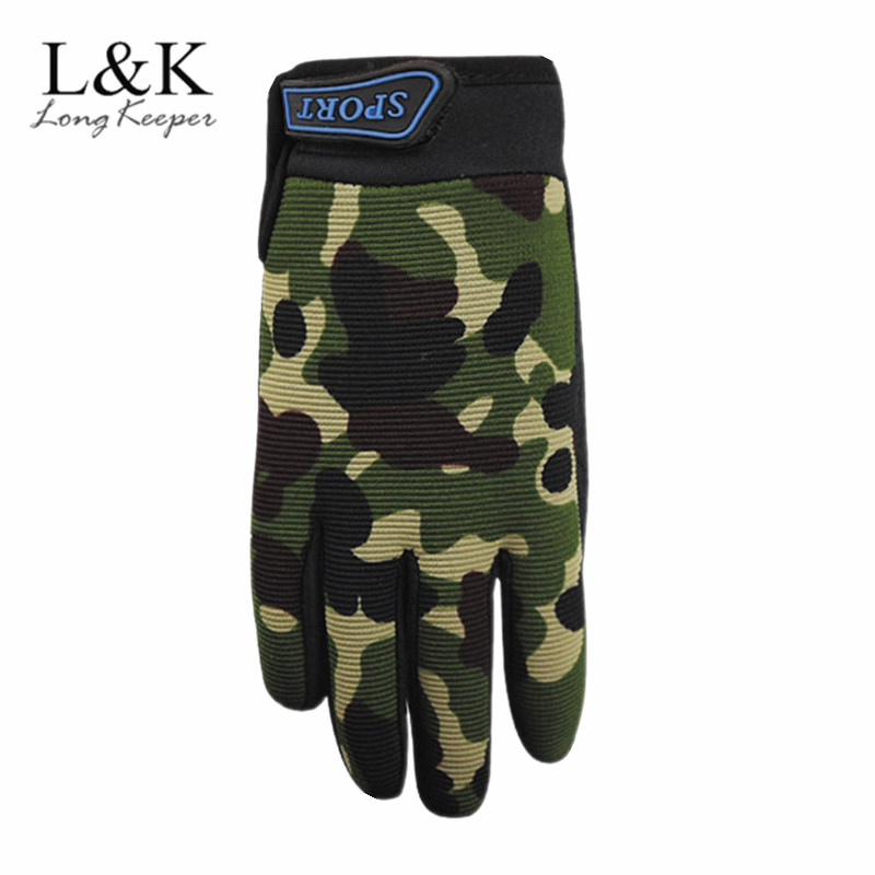 Camouflage Army Green 5-13 Years Kids Children Full Finger Gloves Anti Slip Tactical Boys Girls Outdoor Sport Gloves Ciclismo