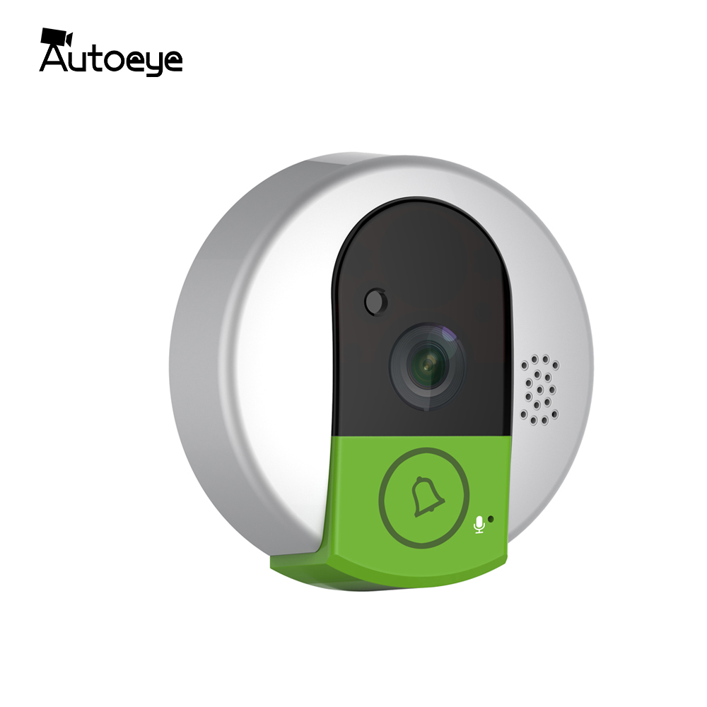Autoeye 720P Mini Wireless Doorbell Home Security Doorphone Wide Angle Digital Alarm Doorcam Ring BellAutoeye 720P Mini Wireless Doorbell Home Security Doorphone Wide Angle Digital Alarm Doorcam Ring Bell