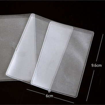 10pcs 9.6x6cm Dustproof Clear Card Holders Soft Plastic Credit Card Protectors Bussiness Card Cover ID Holders