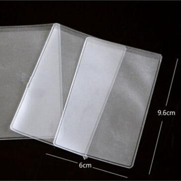 10pcs Soft Plastic Clear Credit Card Sleeves Protectors Dustproof Waterproof EP