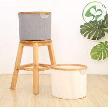 Круглая корзина для хранения Бамбуковая хлопковая льняная разная
