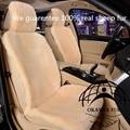 1 pc pele real acessórios interiores do carro lã de tosquia comumente usado carro styling 5 a cor pode ser selecionada