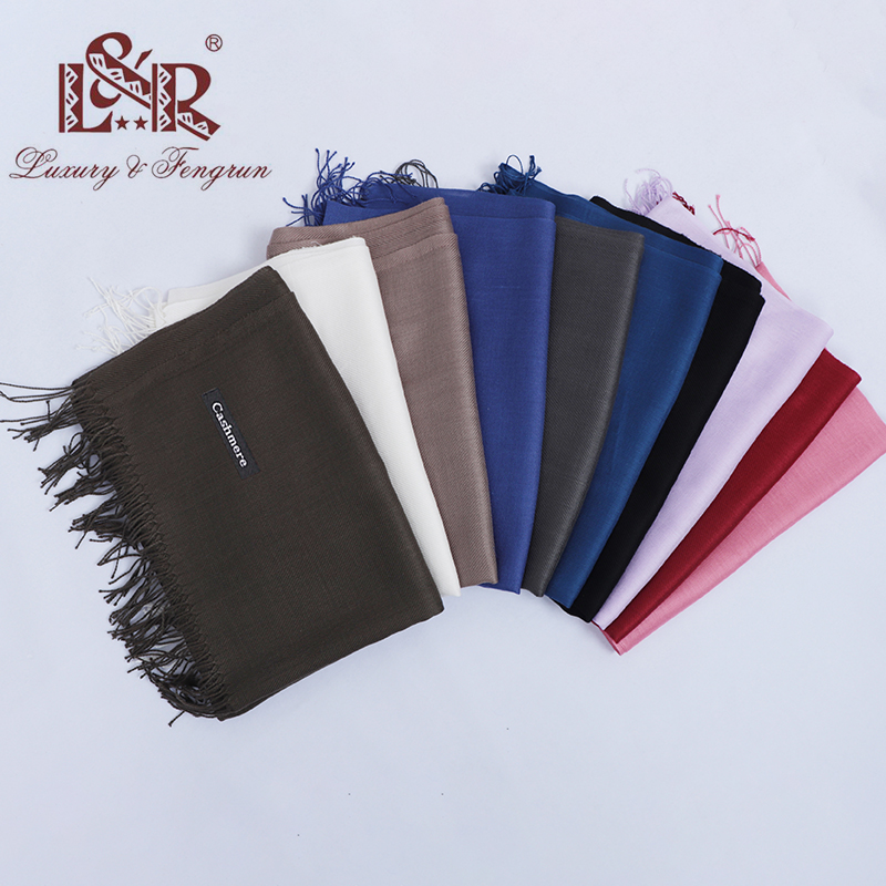 Fashion 2018 New Solid Winter Scarves For Women Shawls And Wraps Lady Pashmina Pure Long Cashmere Head Scarf Men Hijabs Stoles