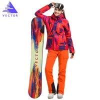 벡터 브랜드 스키 재킷 바지 여성 따뜻한 겨울 스키 스노우 보드 정장 방수 방풍 여성 스키 착용 HXF70002