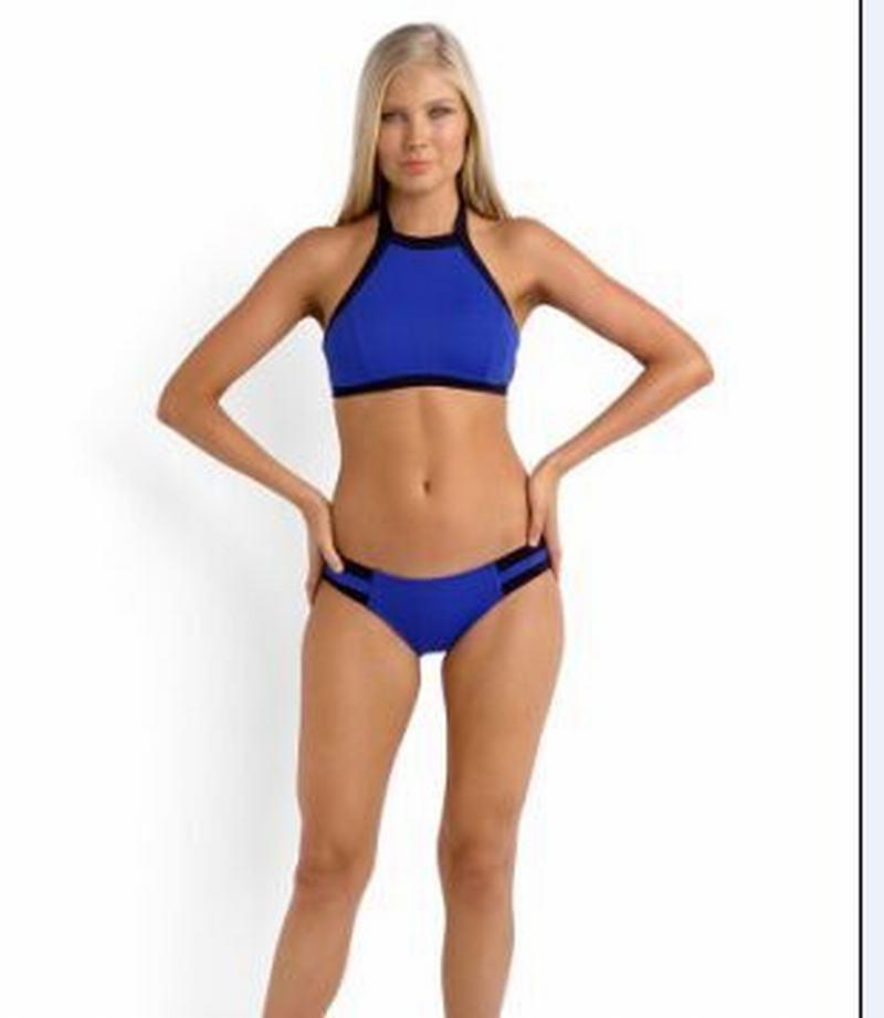 55ebbf5c0 Sexy Bikini 2016 nuevas mujeres de cuello alto Halter del traje de baño de  baño sólido Push Up estilo brasileño traje de baño 1106 en Bikinis Set de  ...