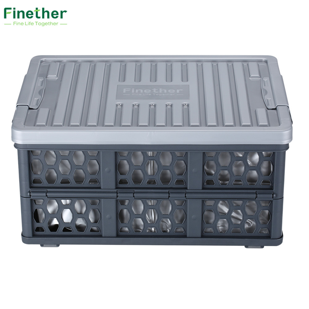 Finether Storage Box Collapsible Utility Plastic Waterproof Box ...