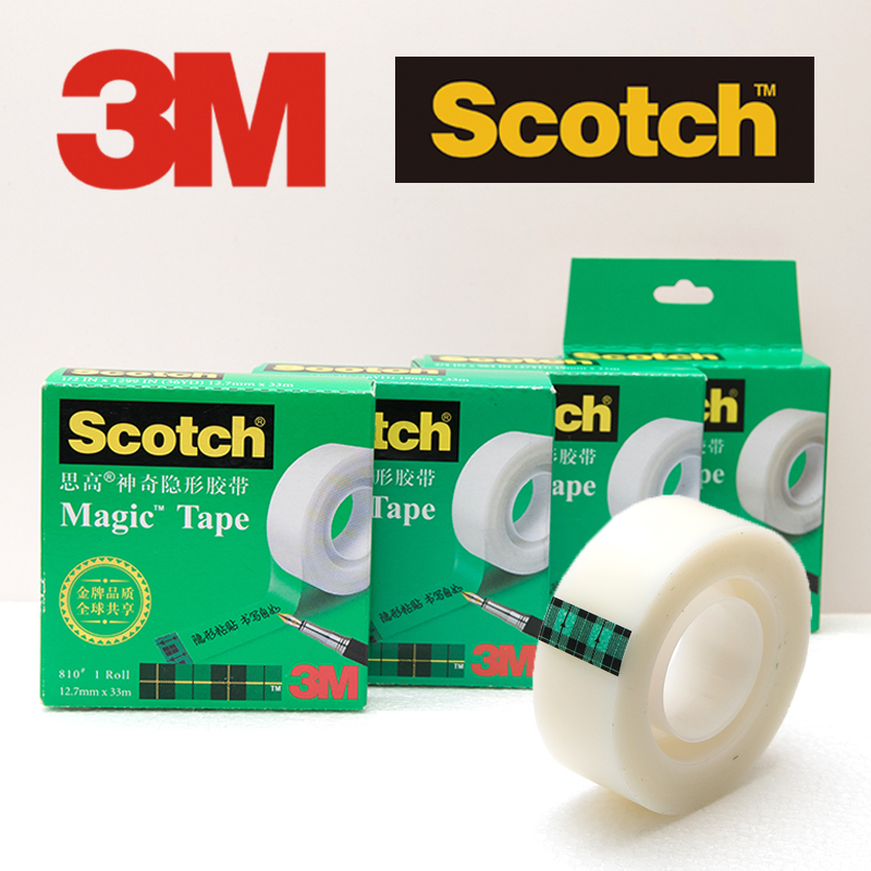 3M Scotch 810 One Side Frosted Invisible Magic Tape Can Writing Cut By Hand Copy No Trace 12.7/19mm * 10m/25m/33m