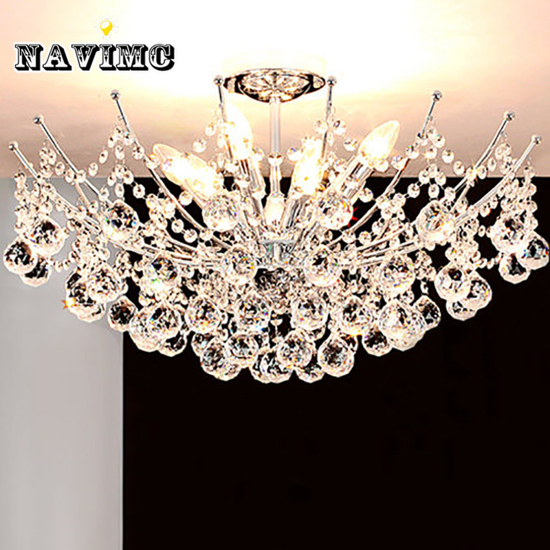 Luxury Lustre Vanity Modern Crystal Chandelier Lighting Fixture Chrome Finish LED Ceiling Lamp for Dining Room Restaurant modern crystal led chandelier gold luxury lustre e14 8 bulbs included crystal ball fixture for restaurant living room lamp
