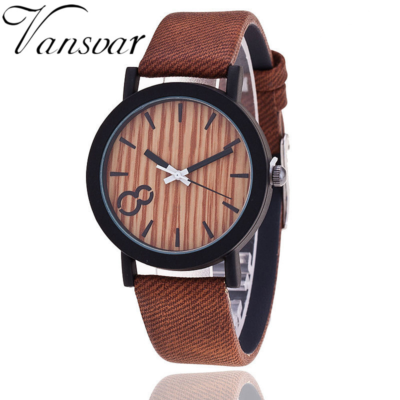 Simulation Wooden Relojes Quartz Men Watch Casual Wooden Color Leather Strap Watch Wood Male Wristwatch Relogio Masculino