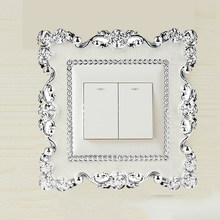 New Resin Single Light Switch Surround Socket Finger Plate Panel Cover Hot For Home Decoration Wall