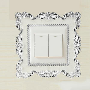 LESUPERAY Light Switch Socket Panel Cover Wall Sticker