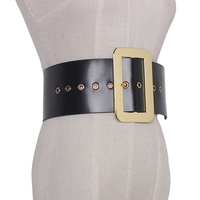 New Designer Genuine Leather wide belts Vintage Belt women High Quality Pin Buckle metal Wide Casual Belt for dress accessories