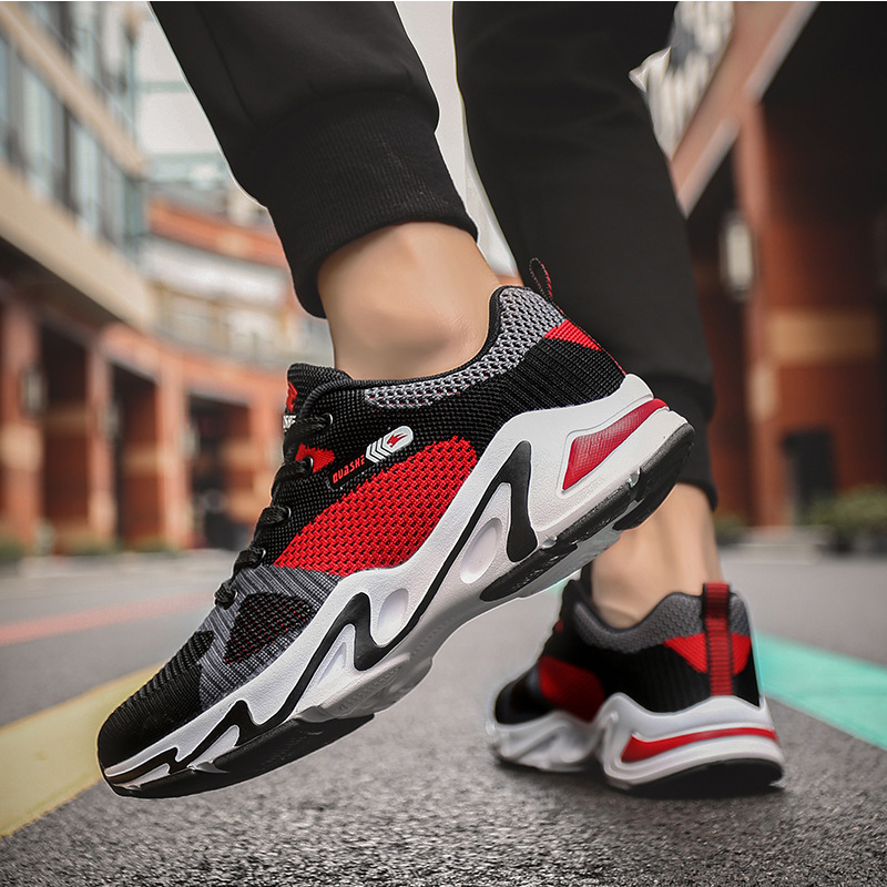 New Tennis Shoes Men Gym Training Yeezys 350 Boost V2 Men Shoes Air Mesh Tenis Masculino Thick Bottom Non slip sply Sneakers Men in Tennis Shoes from Sports Entertainment