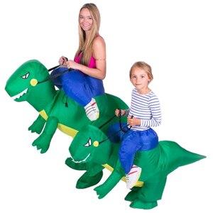 Image 4 - Adulti O Bambini Gonfiabile Ride On Walking Dinosauro Animale Cosplay Costume Di Natale Ringraziamento Per Wome Bambini Fancy Dress